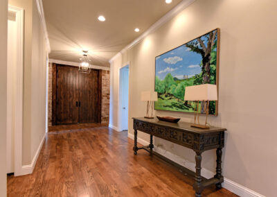 Custom Home Builders Tulsa Enlightened Modern Foyer 1