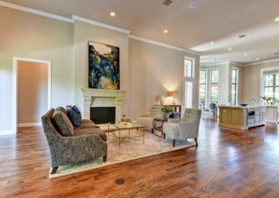 Custom Home Builders Tulsa Enlightened Modern Living Room 1