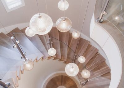 Jenks New Homes Gallery Custom Features Dizzying Spiral Staircase