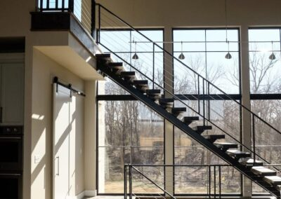 Jenks New Homes Gallery Custom Features Floating Stairs