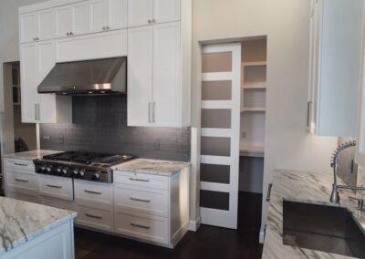 Jenks New Homes Gallery Custom Features Hidden Pantry
