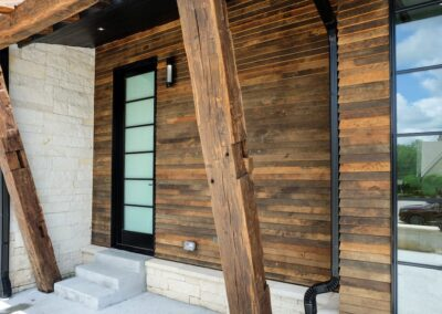 Jenks New Homes Gallery Custom Features Reclaimed Barn Wood Exterior