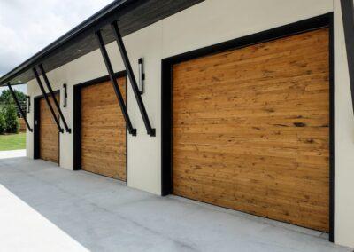 Jenks New Homes Gallery Custom Features Reclaimed Barn Wood Garage Doors